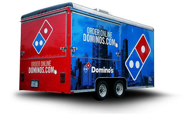 Vehicle wraps columbus ohio trailer wrap dominos pizza assured graphics wrap company #WrapLife #BeAssured