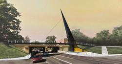 2017 Tunnel and pedestrian bridge in Tart