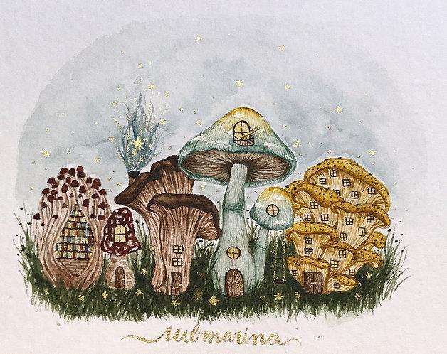 original - vila de cogumelos