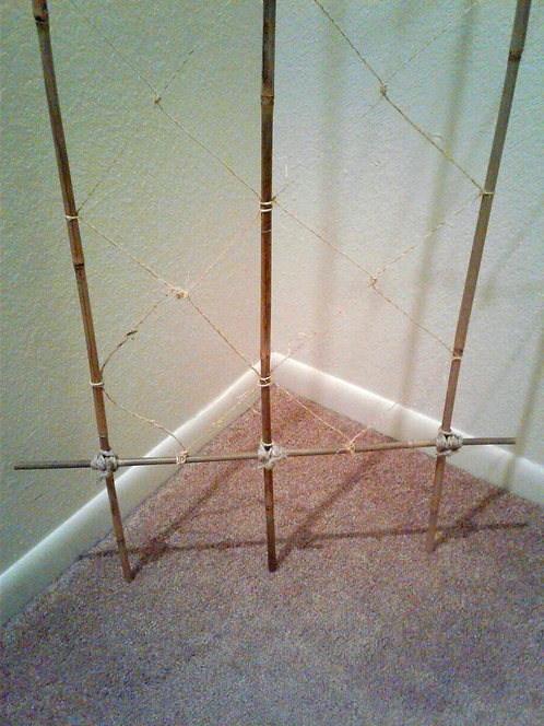 Six-Foot-Tall Natural Bamboo Trellis--Local Sales Only