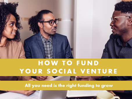 How to fund your Social Venture