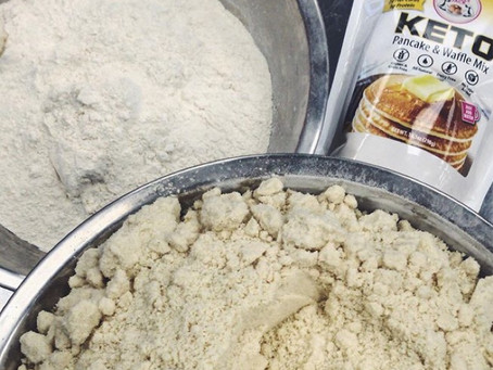 NEW KETO MIX Available now is our low carb,moderate protein, high fat pancake & waffle mix.