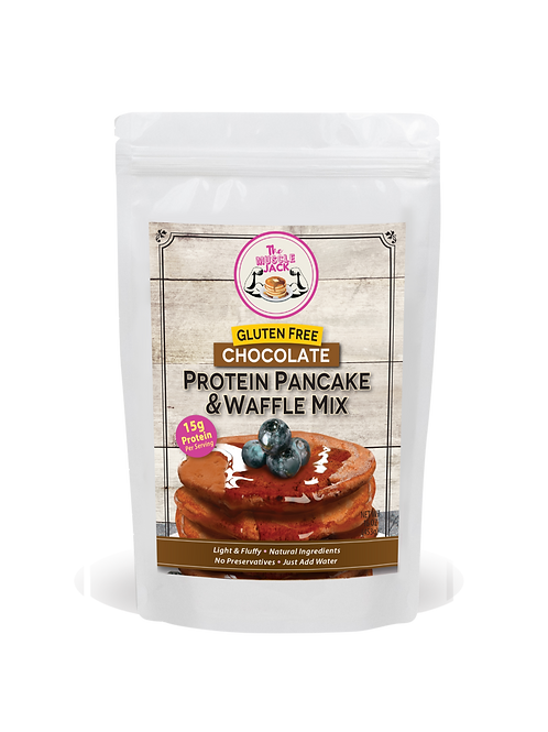 Chocolate Protein Pancake/Waffle Mix - Gluten Free 16 Oz