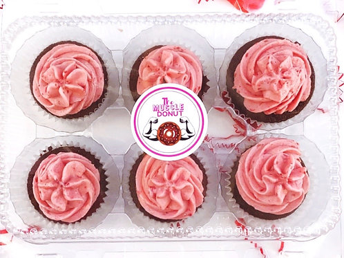 6 Pack - Low Carb Chocolate Raspberry Cupcake