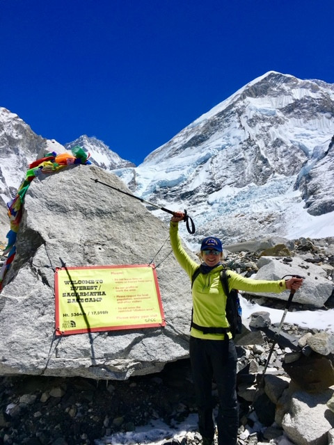 Dr. Emily Stratton at Everest