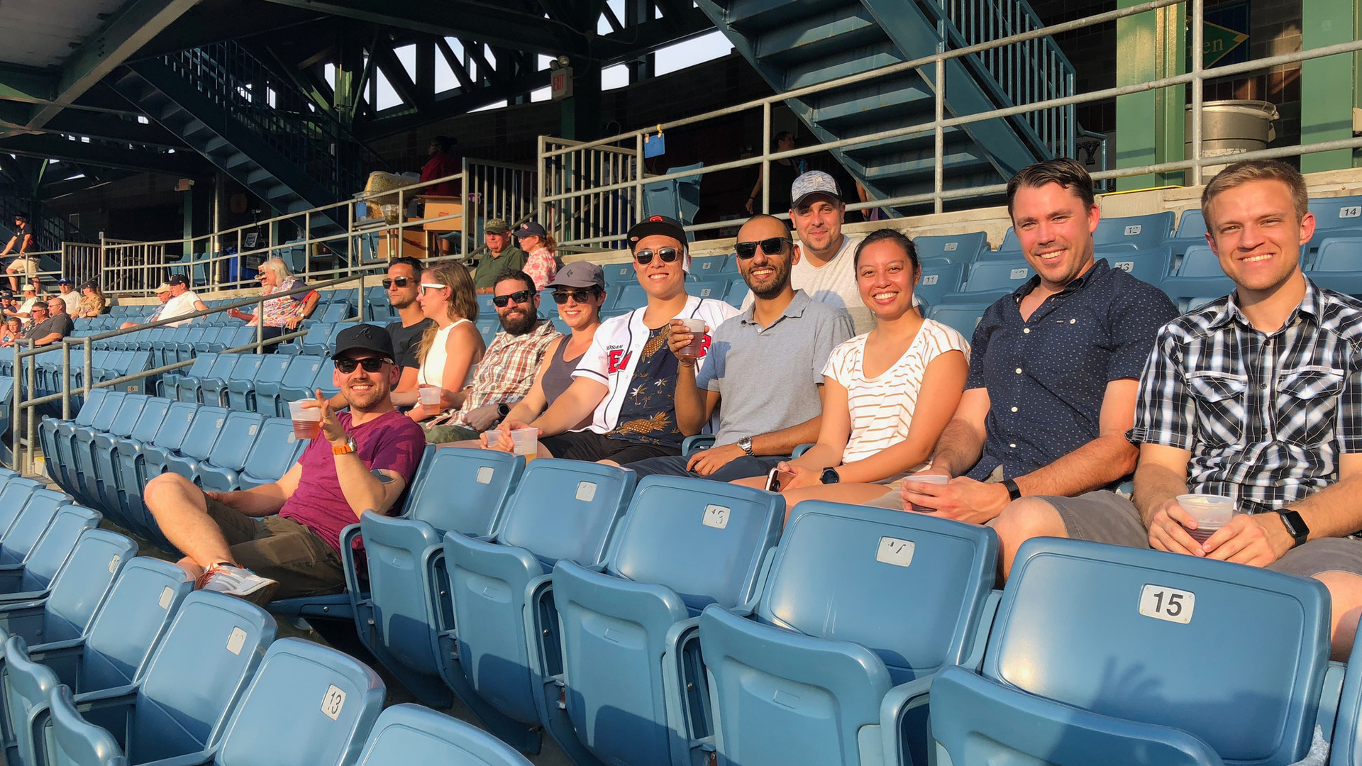 Class of 2021 at the Chiefs baseball game