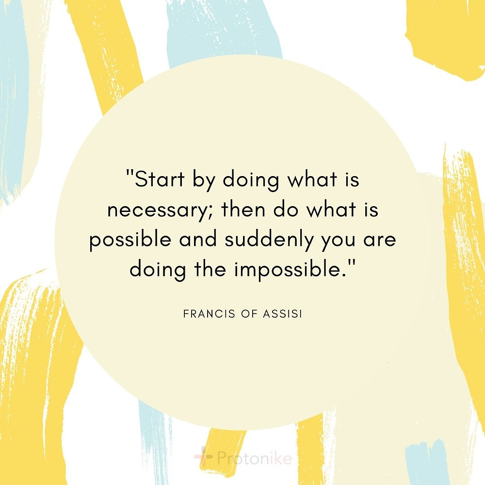 Inspirational Business Quote by Francis of Assisi