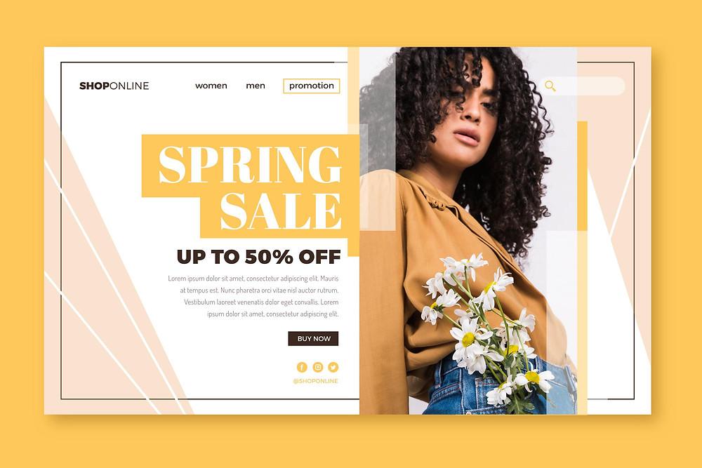 Landing page, e-commerce landing page, shopping, protonike, google ads strategies