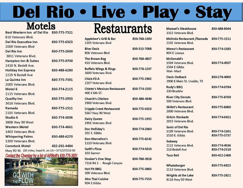 Del Rio Motels and Restaurants