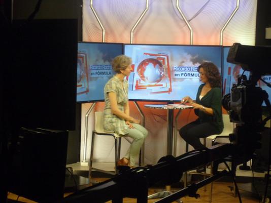 Programa de TV con Ricardo Rocha