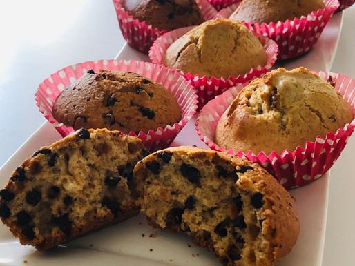 Muffin integrali con gocce di cioccolato senza burro