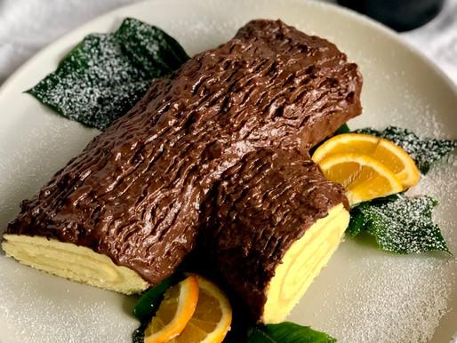 Tronchetto dolce arancia e cioccolato