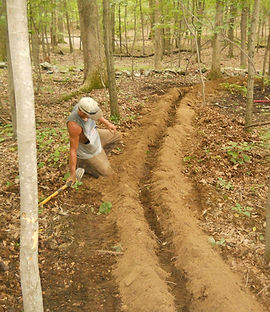 Worker In the Process of Irrigation Installation, Irrigation Installation Services in Canaan, NY