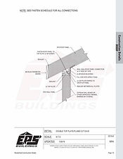 Beveled Top Plate Roof Connection Detail - Plumb Cut