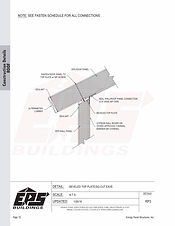Beveled Top Plate Roof Connection Detail - Square Cut