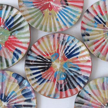 虹色彩泥小皿
