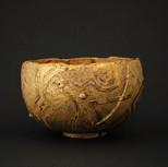 金彩直弧文茶碗