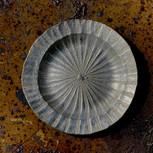 銀彩リム皿