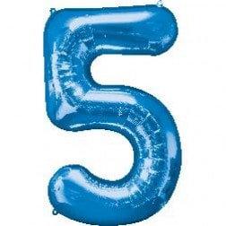 Jumbo Number 5 - Blue