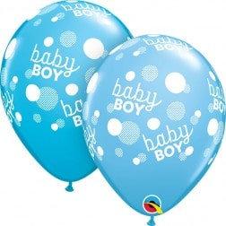 "11"" Latex Balloon-Blue Baby Boy"