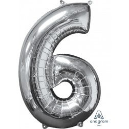 Jumbo Number 6 - Silver