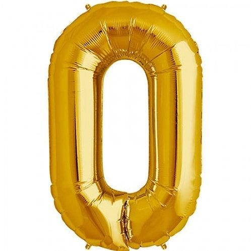 Jumbo Number 0 - Gold