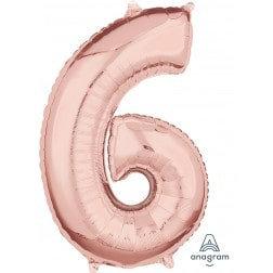 Jumbo Number 6 - Rose Gold
