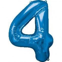 Jumbo Number 4 - Blue