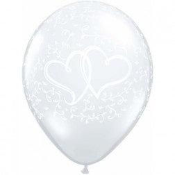 "11"" Latex Balloon - Clear Heart"