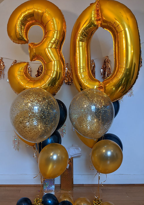 30th Birthday Number Package - Gold