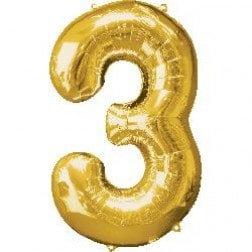 Jumbo Number 3- Gold
