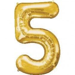 Jumbo Number 5 - Gold