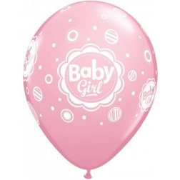 "11"" Latex Balloon-Baby Girl Pink"