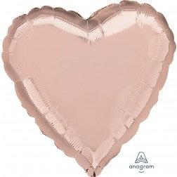 Heart Rose Gold Metallic