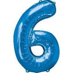 Jumbo Number 6 - Blue