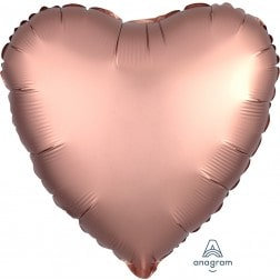 Heart Rose Copper Satin