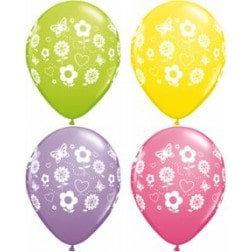 """11"""" Latex Balloon-Flower Assort."""