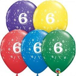 "11"" Latex Balloon-# 6 Assort."