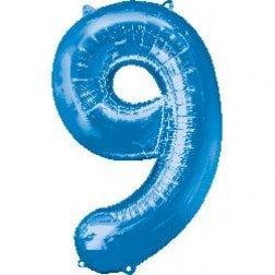 Jumbo Number 9 - Blue