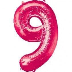 Jumbo Number 9 - Pink
