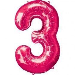 Jumbo Number 3- Pink