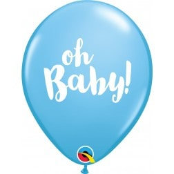 "11"" Latex Balloon-Oh Baby Blue"