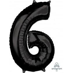 Jumbo Number 6 - Black