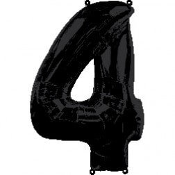 Jumbo Number 4 - Black