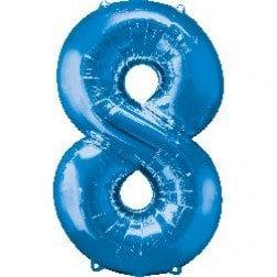 Jumbo Number 8 - Blue
