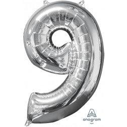 Jumbo Number 9 - Silver