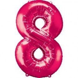 Jumbo Number 8 - Pink