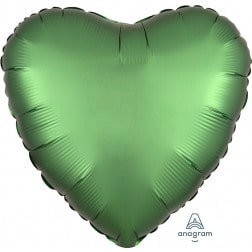 Heart Emerald Satin