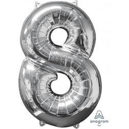 Jumbo Number 8 - Silver