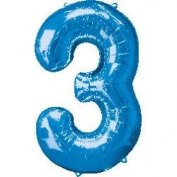 Jumbo Number 3- Blue